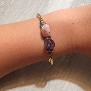 Raw Crystal Gold Bracelet